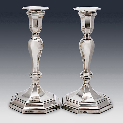 Sterling silver candlesticks thomas scott