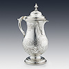 Arts and crafts sterling silver coffee pot by Duchess of Sutherland cripples guild