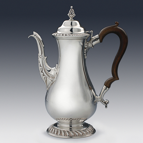 Antique silver coffee pot harris sons