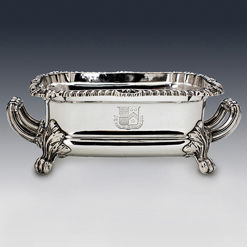Antique sterling silver william iv sauce tureen henry edwards