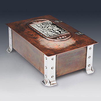 Antique sterling silver arts and crafts georgian and Victorian boxes
