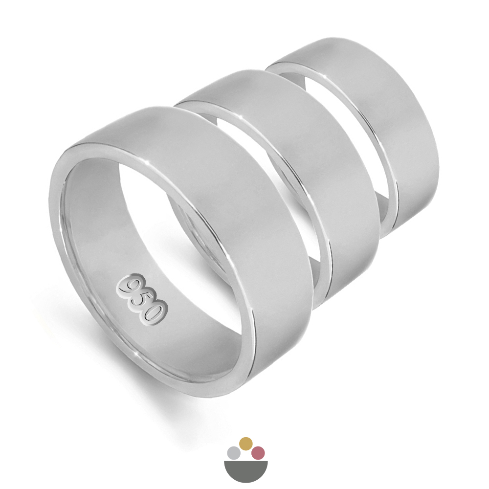 Palladium 500 & 950 plain wedding rings & bands