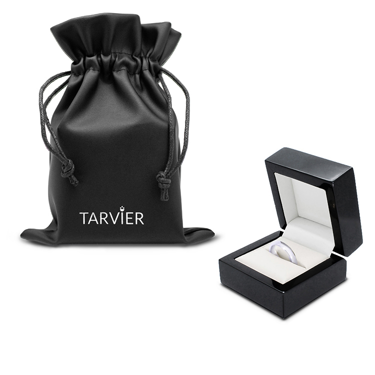 Luxury jewellery ring box for palladium 950 wedding ring or band