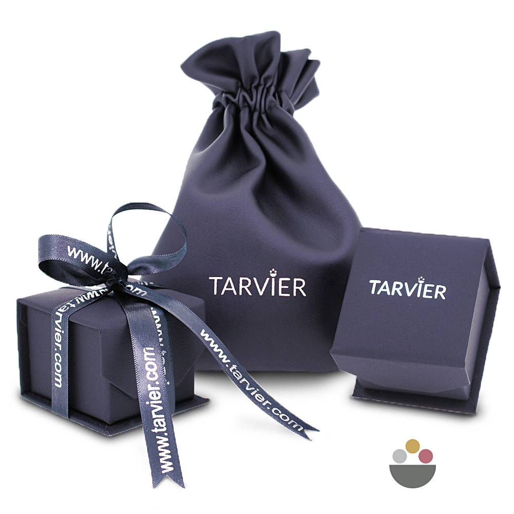 Luxury jewellery ring box for platinum 950 wedding ring or band