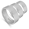 Flat shape wedding rings and bands