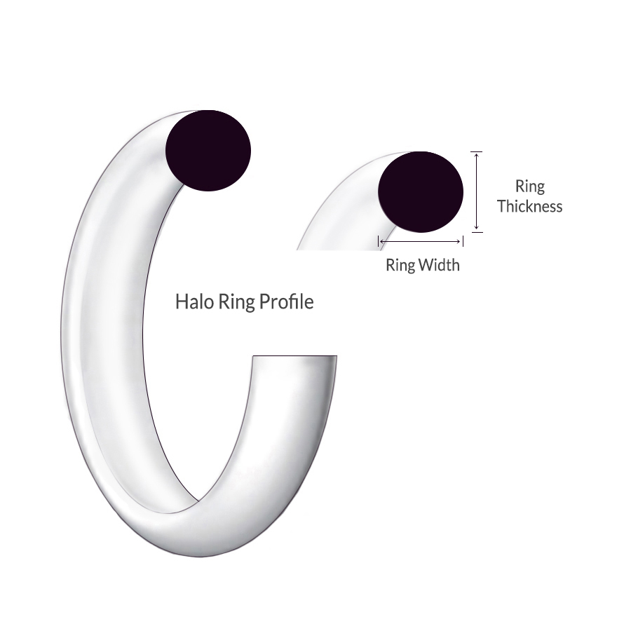 Halo shape profile 9ct rose gold ring