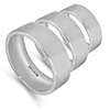 Easy fit shape wedding rings and bands