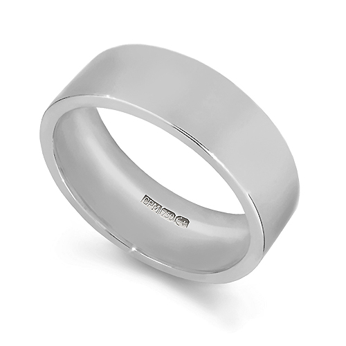 18ct White gold 750 easy fit wedding ring